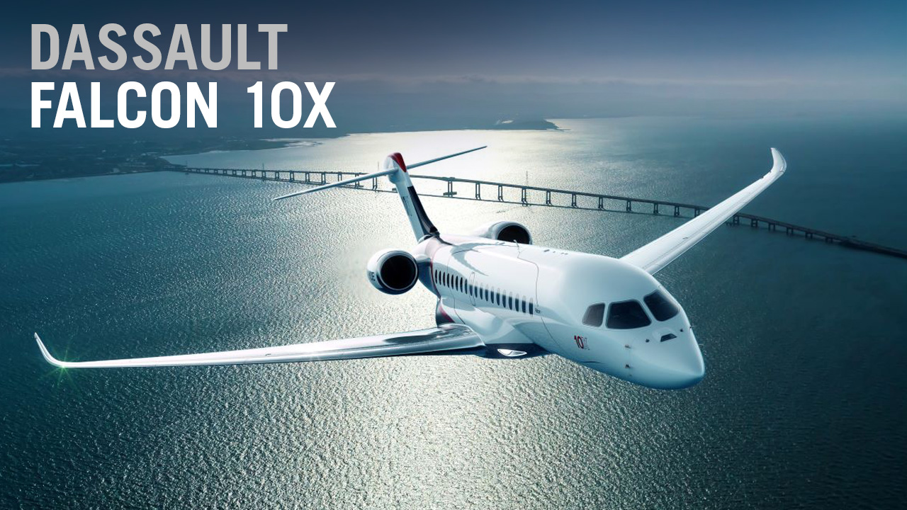 A First Look at Dassault's Falcon 10X Ultra-Long-Range Business Jet