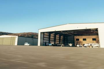 Private Jet Center hangars at KPJC